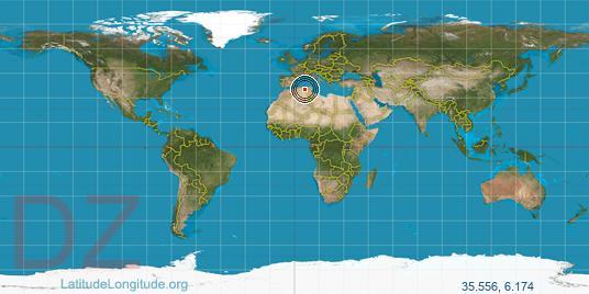 Batna latitude longitude