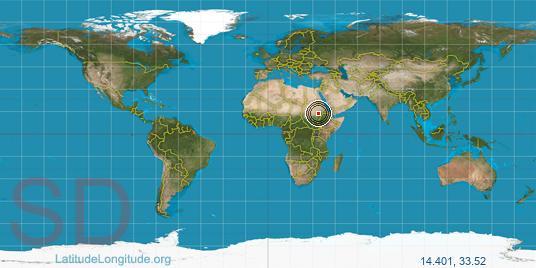 Wad Medani Latitude Longitude - Wad madani map
