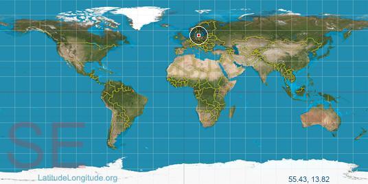 Ystad Latitude Longitude - Sweden map ystad